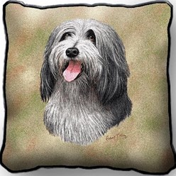 Bearded Collie Pillow, Made in the USA