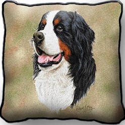 Bernese Mountain Dog Pillow, Made in the USA