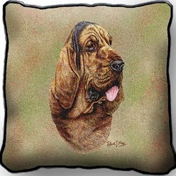Bloodhound Pillow, Made in the USA