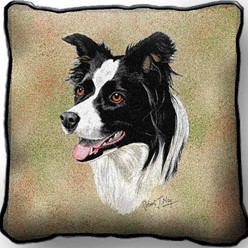 Border Collie Pillow, Made in the USA