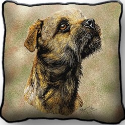 Border Terrier Pillow, Made in the USA