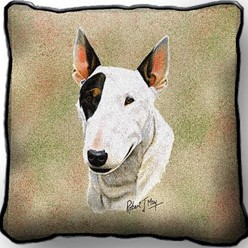 Bull Terrier Pillow, Made in the USA