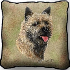 Cairn Terrier Pillow, Made in the USA