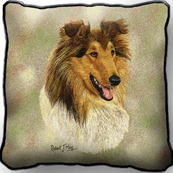 Collie II Pillow, Made in the USA