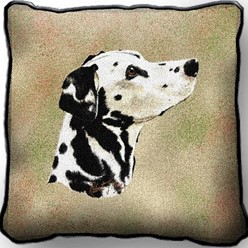 Dalmatian Tapestry Pillow, Made in the USA