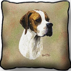 English Pointer Tapestry Pillow, Made in the USA