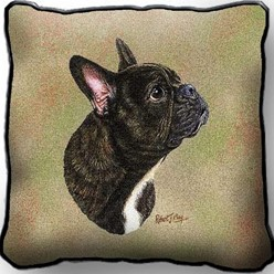 French Bulldog Pillow, Made in the USA