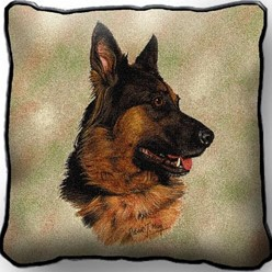 German Shepherd Pillow, Made in the USA