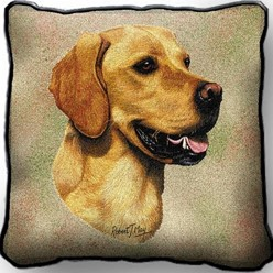 Golden Retriever Pillow, Made in the USA