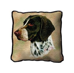 German Shorthaired Pointer Pillow, Made in the USA