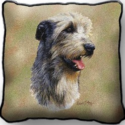 Irish Wolfhound Pillow, Made in the USA