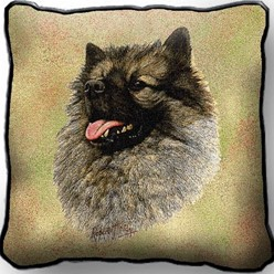 Keeshond Pillow, Made in the USA