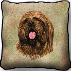 Lhasa Apso Pillow, Made in the USA