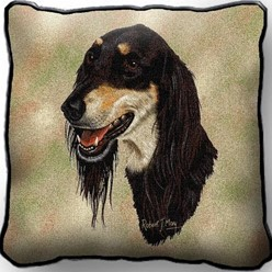 Saluki Tapestry Pillow, Made in the USA