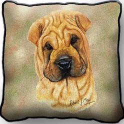 Shar Pei Pillow, Made in the USA