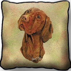 Vizsla Pillow, Made in the USA