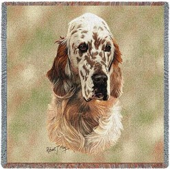 English Setter Orange Belton Throw