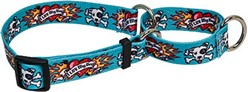 Luv My Dog Blue Martingale Collar, Made in the USA