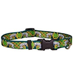 Lucky Dog Collar, an Irish Theme Dog Collar