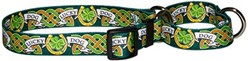 Lucky Dog Martingale Collar, an Irish Theme Collar