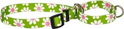 Green Daisy Martingale Collar