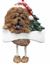 Chow Dangling Legs Dog Christmas Ornament