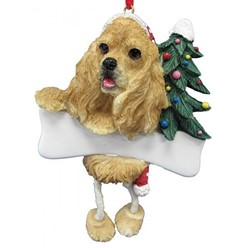 Cocker Spaniel Dangling Legs Dog Christmas Ornament