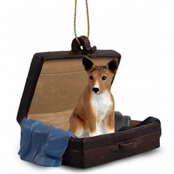 Basenji Traveling Companion Ornament