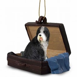 Bearded Collie Traveling Companion Ornament