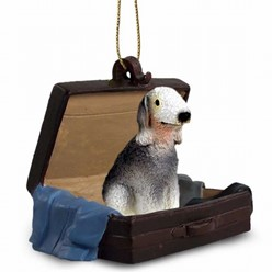 Bedlington Terrier Traveling Companion Ornament