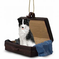 Border Collie Traveling Companion Ornament