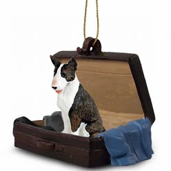Bull Terrier Traveling Companion Ornament