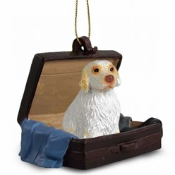 Clumber Spaniel Traveling Companion Ornament