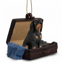 Black and Tan Coonhound Traveling Ornament