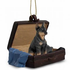 Doberman Traveling Companion Ornament