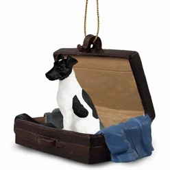 Fox Terrier Traveling Companion Ornament