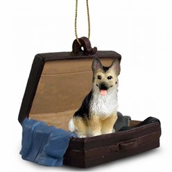 German Shepherd Traveling Companion Ornament