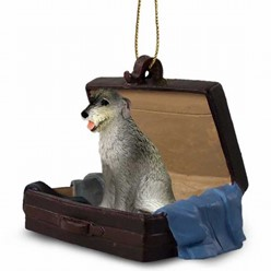 Irish Wolfhound Traveling Companion Ornament