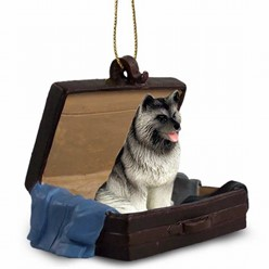 Keeshond Traveling Companion Ornament