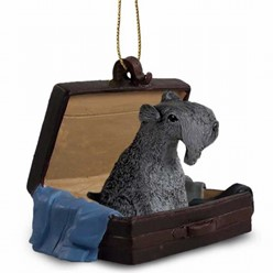 Kerry Blue Terrier Traveling Companion Ornament