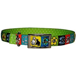 Uptown Pets For Peace Buckle Collar