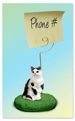 Black and White Cat Memo Holder