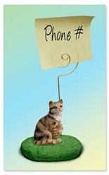 Brown Tabby Cat Memo Holder