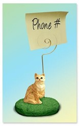 Red Tabby Cat Memo Holder