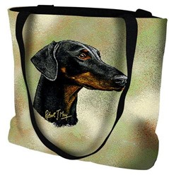 Doberman Uncropped Tote Bag