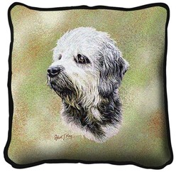 Dandie Dinmont Pillow, Made in the USA