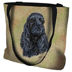 Cocker Spaniel Black Tapstry Tote Bag