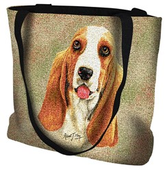 Basset Hound Tapestry Tote Bag