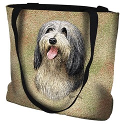 Bearded Collie Tapestry Tote Bag