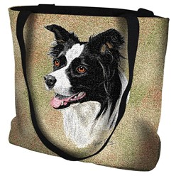 Border Collie Tapestry Tote Bag